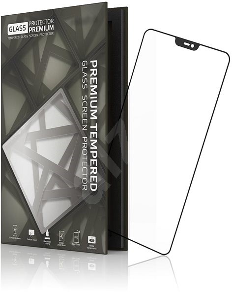 Tempered Glass Protector Frame for ONEPLUS 6 Black - Glass protector
