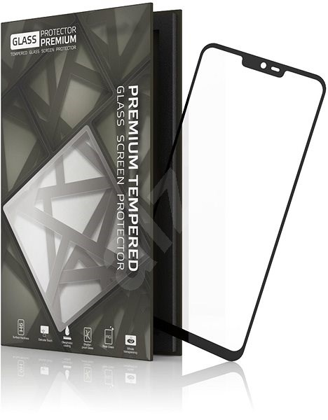 Tempered Glass Protector Frame for LG G7 Black - Glass protector