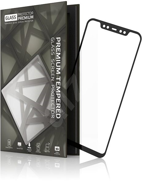 Tempered Glass Protector Frame for Xiaomi Mi 8 Black - Glass protector
