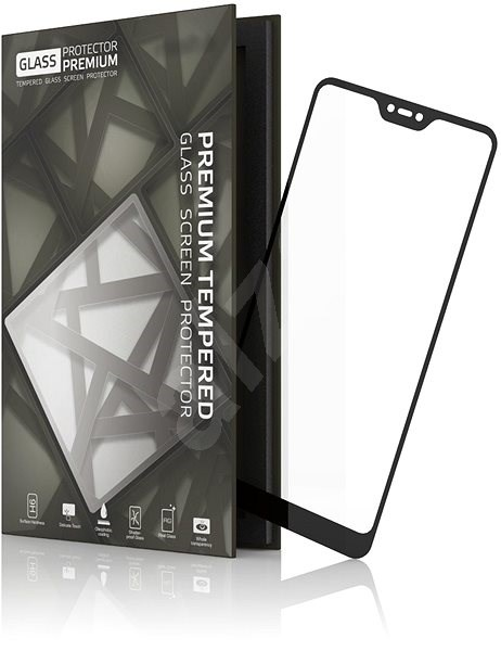 Tempered Glass Protector Frame for Xiaomi Mi A2 Lite Black - Glass protector