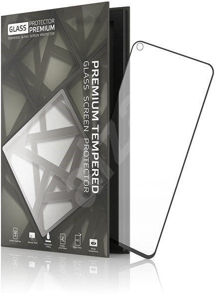Tempered Glass Protector Frame for Honor View 20 Black - Glass protector
