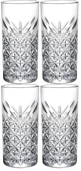 Pasabahce TIMELESS Long Drink  Glasses, 450ml, 4pcs - Glass Set