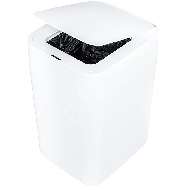 Townew T1 Smart Trash Can (White) + 1 Regular Refill Ring - Contactless Waste Bin