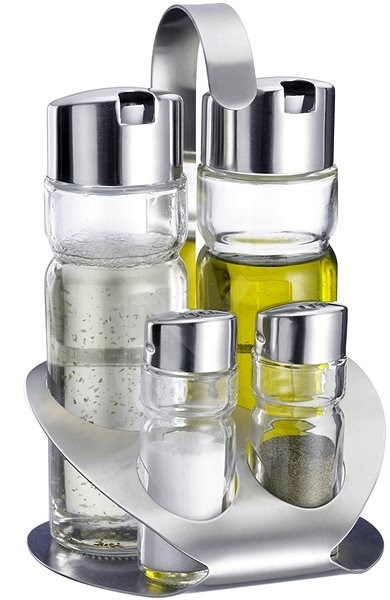 WESTMARK Wien Table Set: Salt, Pepper, Oil, Vinegar - Condiments tray