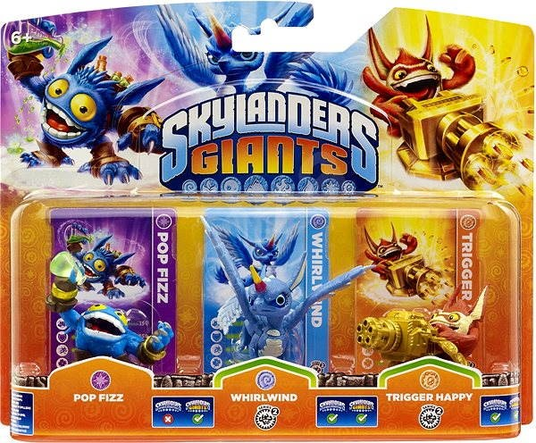 Skylanders: Giants (Triple pack - Pop Fizz + Whirlwind + Trigger Happy)  - Figure