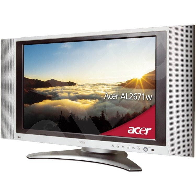 "26"" LCD TV Acer AL2671W, 600:1 kontrast, 450cd/m2, 16ms, 1280x768, repro - Television"