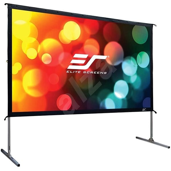 """ELITE SCREENS, Mobile Outdoor Tripod 120"""" (16:9) - Projection Screen"""