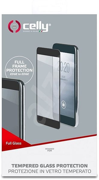 CELLY Full Glass for Samsung Galaxy J4+ Black - Glass protector