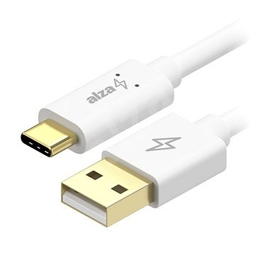 AlzaPower Core Charge 2.0 USB-C, 0.1m, White - Data cable