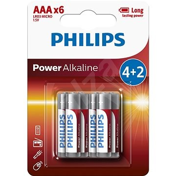 Philips LR03P6BP 6pcs - Disposable batteries