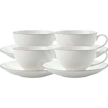 Maxwell Williams WBA EDGE Set of Cups with Saucers 250ml 4pcs - Cup & Saucer Set